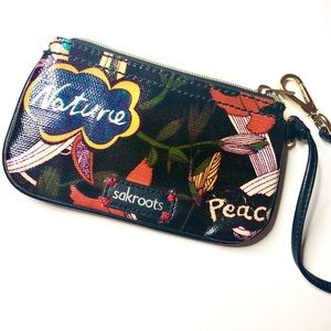 BoHo Sakroots Patent Print Clutch Wallet Wristlet